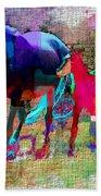 Horses Of Different Colors Bath Towel