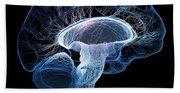 Human Brain Complexity Bath Towel