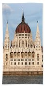 Hungarian Parliament Building In Budapest Hand Towel