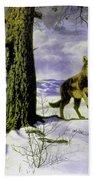 Hunting Wolf Bath Towel