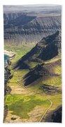 Iceland Plateau Mountains Bath Towel