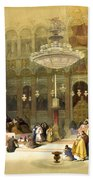 Inside The Church Of The Holy Sepulchre Bath Towel