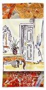 Italy Sketches Venice Hotel Bath Towel
