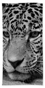 Jaguar In Black And White II Bath Towel