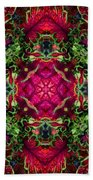 Kaleidoscope Made From An Image Of A Coleus Plant Bath Towel