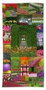 Keukenhof Gardens Collage Bath Towel