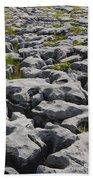 Limestone In The Burren Bath Towel