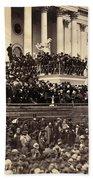 Lincoln's Inauguration, 1865 Bath Towel