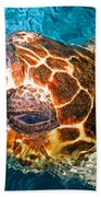 Loggerhead Sea Turtle Bath Towel