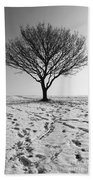 Lone Tree Winter Bath Towel