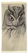 Long Eared Owl Bath Towel