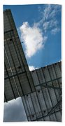 Low Angle View Of Solar Panels Bath Towel