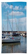 Lyme Regis Harbour 2 Bath Towel