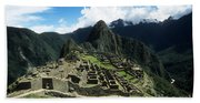 Machu Picchu Panorama Bath Towel