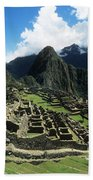 Machu Picchu Panorama Bath Towel
