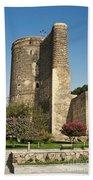 Maidens Tower In Baku Azerbaijan Bath Towel