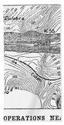 Map Panama Canal, 1885 Hand Towel