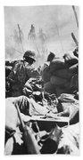 Marines Fight At Tarawa Hand Towel
