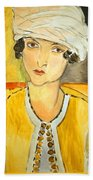 Matisse's Lorette With Turban And Yellow Jacket Bath Towel
