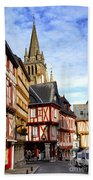Medieval Vannes France Bath Towel