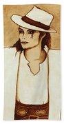 Michael Jackson Original Coffee Painting Bath Towel