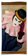Mime With Thoughts Bath Towel