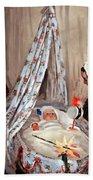 Monet's The Cradle -- Camille With Artist's Son Jean Bath Towel