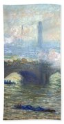 Monet's Waterloo Bridge On A Gray Day Bath Towel
