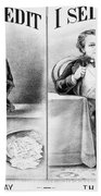 Money Lending, 1870 Bath Towel