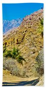 Mountain Peaks From Lower Palm Canyon Trail In Indian Canyons Near Palm Springs-california Bath Towel