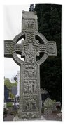 Muiredach's Cross - Monasterboice Bath Towel