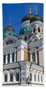 Nevsky Cathedral - Tallin Estonia Bath Towel