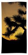 New Photographic Art Print For Sale Joshua Tree At Sunset Bath Towel