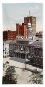 New York City Hall 1900 Bath Towel