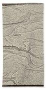 Ocean Sand Art Hearts Left Side Bath Towel