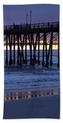 Oceanside Pier Sunset Bath Towel