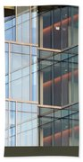 Office Building Windows Bath Towel