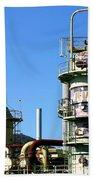 Oil Refinery Bath Towel