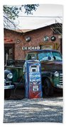 Old Cars On Route 66 Bath Towel