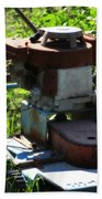 Old Junky Lawn Mower Bath Towel
