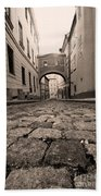 Old Street In Prague Bath Towel