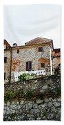 Old Towns Of Tuscany San Gimignano Italy Bath Towel