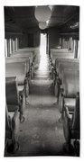 Old Train Seats Bath Towel