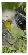 Orchard Orioles Bath Towel