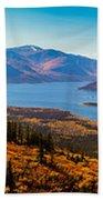 Panorama Of Fish Lake Yukon Territory Canada Bath Towel