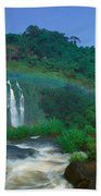 Panoramic View Of Iguazu Waterfalls Bath Towel