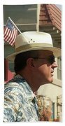 Parade Watcher Flag In Hat July 4th Prescott Arizona 2002 Bath Towel