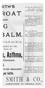 Patent Medicine Ad, 1887 Bath Towel