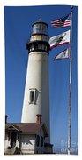 Pigeon Point Lighthouse Pescadero California Bath Towel