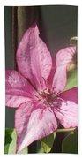 Pink  Clematis   # Bath Towel